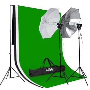 ESDDI Background Support System 5ft x 10ft and 85W 5500K Umbrellas Softbox