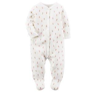 Baby Girl Thermal Snap-Up Sleep & Play | Carters.com