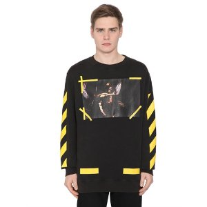 OFF WHITE - 7 OPERE PRINTED COTTON SWEATSHIRT
