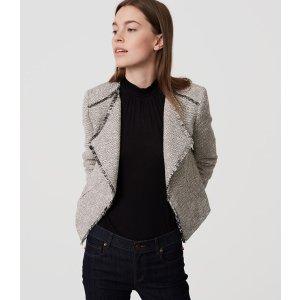 Fringe Tweed Jacket | LOFT
