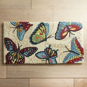 Cloud Step® Butterfly Memory Foam Rug | Pier 1 Imports