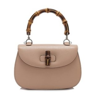 Gucci Bamboo Classic Leather Top Handle Bag