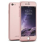 Willnorn Norn One Full Body Protection Hard Slim Case with Tempered Glass Screen Protector for Apple iPhone 6