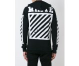 Off-white Striped Logo Zipped Hoodie