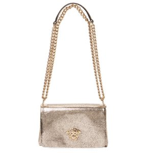 Versace Palazzo Small Metallic Leather Crossbody