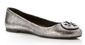 Tory Burch Sequin-Embossed Reva Ballet Flats