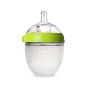 $10.99 Comotomo Natural Feel Baby Bottle, Green, 5 Ounces