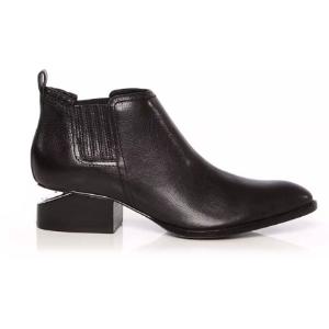 ALEXANDER WANG Kori Calf Leather Rhodium Boot