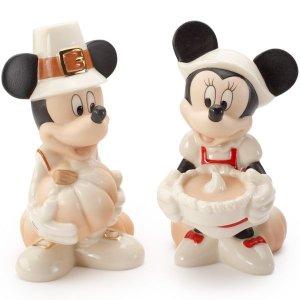 Disney's Thankful Feast Mickey & Minnie Salt & Pepper Set...