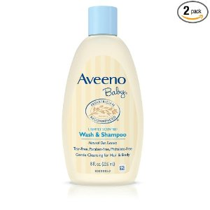 $4.91 + Free Shipping Aveeno Baby Wash & Shampoo, Lightly Scented, 8 Ounce (Pack of 2)