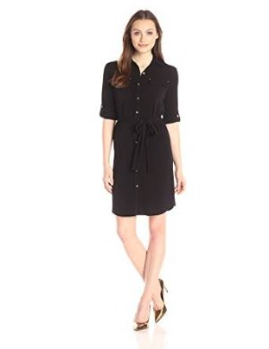 Calvin Klein Women's Roll-Up Shirtdress