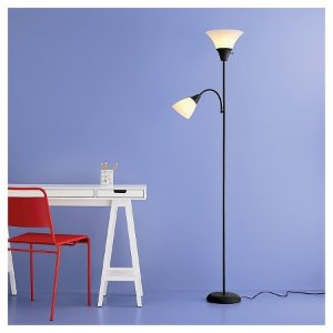 Torchiere Floor Lamp with Task Light - Room Essentials™ : Target