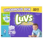 Prime Member Only! $3 Off + Extra 20% Off Luvs Diapers On Sale @ Amazon.com