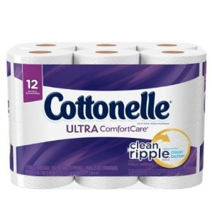$3.99 Cottonelle Ultra ComfortCare Family Roll Toilet Paper Bath Tissue, 12 Count
