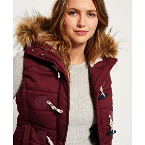 Superdry Marl Toggle Puffle Gilet - Women's Gilets