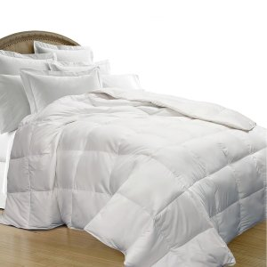 All Season Oversize White Goose Down Blend Comforter - 15763719 - Overstock.com Shopping - Great Deals on Blue Ridge Home Fashions Down Comforters