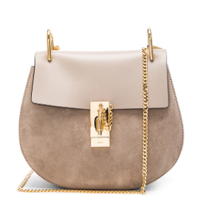 Chloe Small Suede Drew Bag in Motty Grey | FWRD
