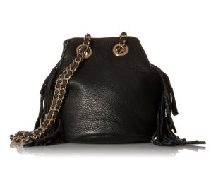 $92.07 Rebecca Minkoff Fringe Bruni Bucket Bucket Bag