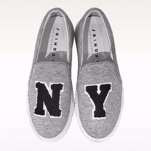 Joshua Sanders Grey Jersey NY Slip-on Sneaker 35 at FORZIERI