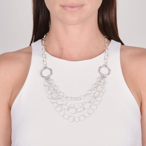 Ribbon & Reed Signature Mixed link Layered necklace in sterling silver