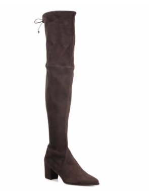 Up to $900 Gift Card Stuart Weitzman Thighland Suede Over-The-Knee Boots