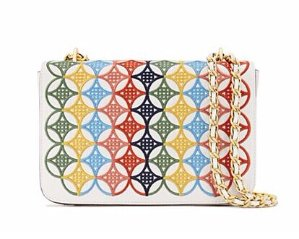 ROBINSON EMBROIDERED ADJUSTABLE SHOULDER BAG @ Tory Burch