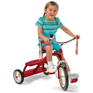 Radio Flyer Classic Red Dual-Deck Tricycle, red or pink