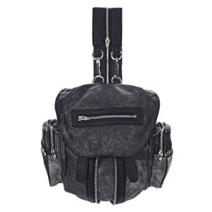 MARTI IN CRACKED BLACK AND WHITE WITH RHODIUM | BACKPACK | Alexander Wang Official Site