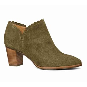 Marianne Bootie Suede | Leather Scalloped Bootie | Jack Rogers