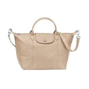 Longchamp Le Pliage Cuir Medium Handbag