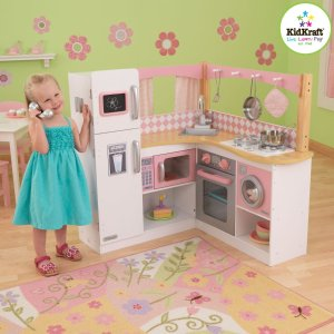 $116.04 KidKraft Grand Gourmet Corner Kitchen, Pink