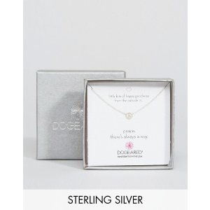 Dogeared | Dogeared Sterling Silver Little Bits of Happy Mini Peace Limited Edition Boxed Necklace