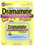 $2.97 Dramamine Motion Sickness Relief for Kids, Grape Flavor, 8 Count