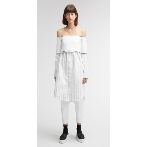 off shoulder sweater overlay dress | DKNY.com