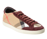 Burberry Hartfield House Check Canvas Trainer