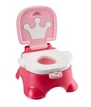 Fisher-Price Stepstool Potty, Blue and Pink