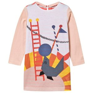 Stella McCartney Kids Pink Marnie Circus Seal Print Dress | AlexandAlexa