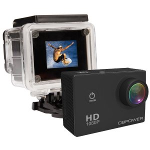 DBPOWER 12MP 1080p Waterproof Action Camera w/ Accessories