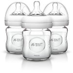 Philips Avent Natural Glass Baby Bottles, 4 Ounce (3 Pack)