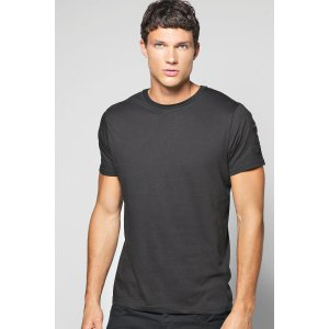 Crew Neck T Shirt With Zip Sleeve