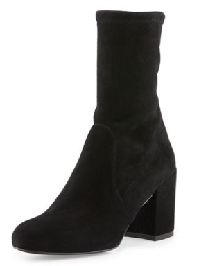 Stuart Weitzman Calare Stretch-Suede Ankle Boot @ Bergdorf Goodman