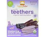 Happy Baby Gentle Teethers Organic Teething Wafers, Blueberry & Purple Carrot, 12 ea | Jet.com