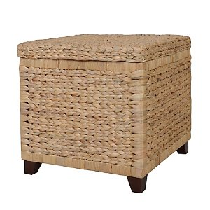 Water Hyacinth Storage Ottoman
