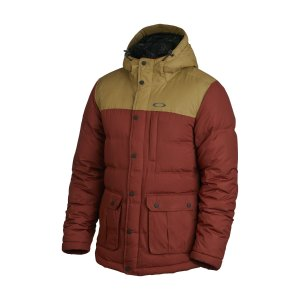 Oakley Drifter Down Jacket in Fired Brick
