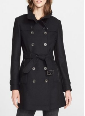 40% Off + $150 Reward Card Burberry Brit Daylesmoore Wool Blend Coat @ Bloomingdales
