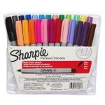 Sharpie Ultra-Fine-Point Permanent Markers, 24 Colored Markers