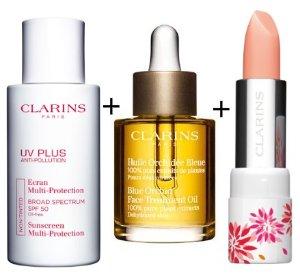 $89.25 Sunscreen+Lip Balm+Lotus Face Treatment Oil @ Clarins