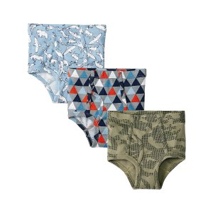 Hanna Andersson Camo & Blue Triangle Organic Cotton Briefs Set | zulily