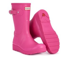 £48.00(reg.£98.00) Hunter Women's Original Short Wedged Sole Wllies - Bright Cerise