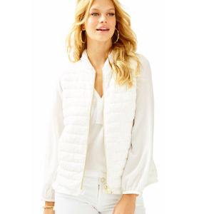 Cora Down Vest - Lace | 24475 | Lilly Pulitzer